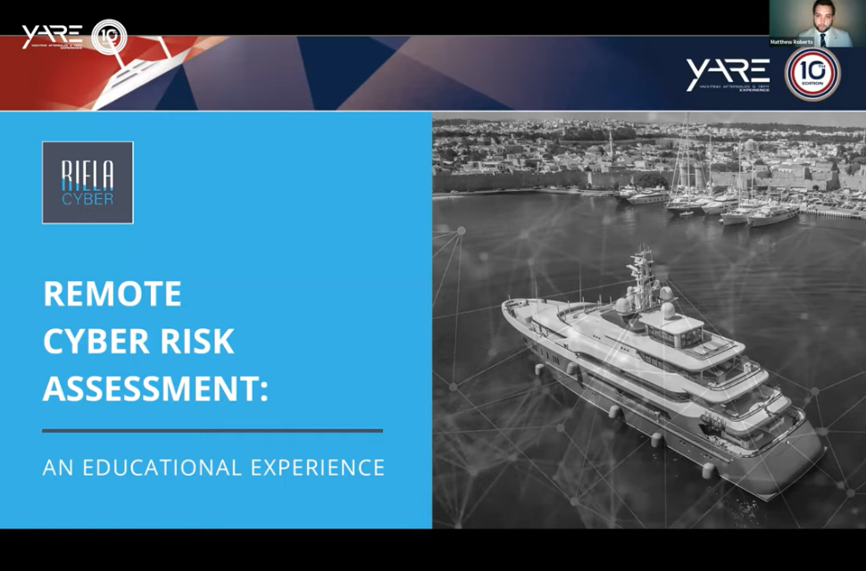 Superyacht event, YARE 2020